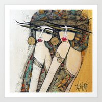 LES DEMOISELLES Art Print