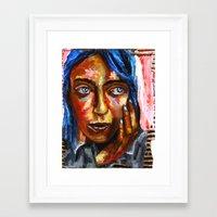 Le baiser Leviathan Framed Art Print