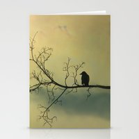 Stationery Card featuring Solitude Mood by The Strange Days Of Gothicolors