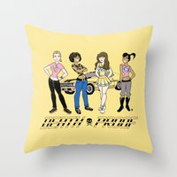 Sat. Morning Death Proof Throw Pillow