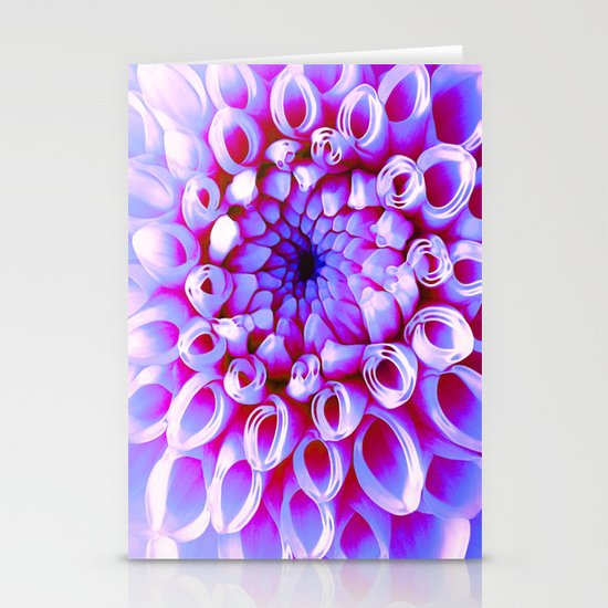 Electric Dahlia Stationery Card
