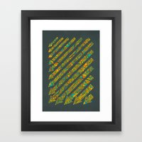 Arrows Map Framed Art Print