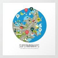 Sydney Swimming Spots Mi… Art Print