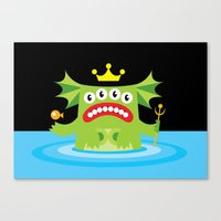 The Queen Of The Deep. Canvas Print