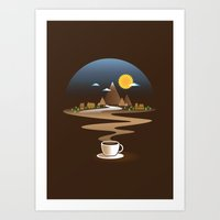 Old town coffee Art Print