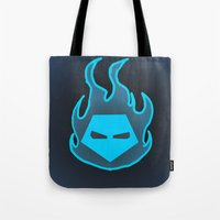 Hot Headed (Blue) Tote Bag