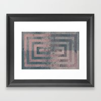Aged Cement Texture Abst… Framed Art Print