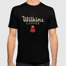 Wontkins Mens Fitted Tee Black SMALL