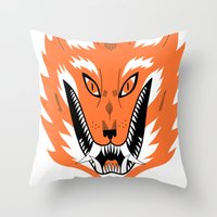 Cursed Fox Throw Pillow