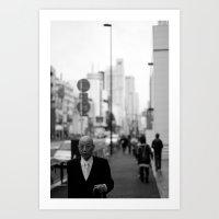 Tokyo Man Art Print