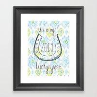 2013 - My Lucky Year Pri… Framed Art Print