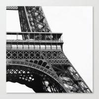 Eiffel BW No.2 Canvas Print