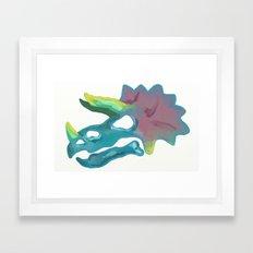 Prehistoric Paint Triceratops Framed Art Print