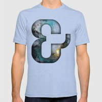 Ampersand Series - Silom… Mens Fitted Tee Tri-Blue SMALL