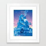 STORY Of DESERT Framed Art Print