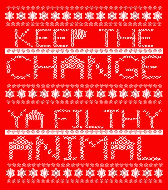 Keep the Change Christmas Sweater RonkyTonk Art Print