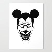 Maniac Mickey Canvas Print