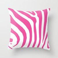 Big Pink Zebra Throw Pillow