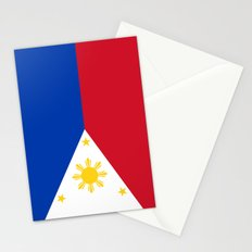 Republic of the Philippines national flag (50% of commission WILL go to help them recover) Stationery Cards