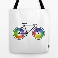 Geometric Bicycle Tote Bag