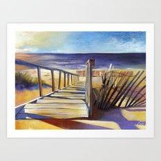 Oval Beach Art Print