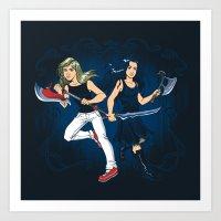 Axe Sisters Art Print
