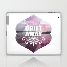 Drift away - Romantic typography quote print Laptop & iPad Skin
