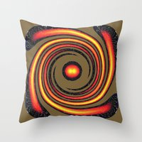 Spiral Fire In Abstract Throw Pillow