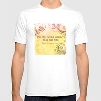 Thy Eternal Summer Shall Not Fade - Sonnet 18 - Shakespeare Love Quotes Mens Fitted Tee White SMALL