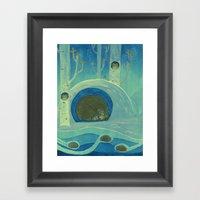 Sleeping in Shifts Framed Art Print
