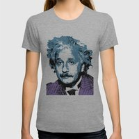 Blue Einstein Womens Fitted Tee Athletic Grey SMALL