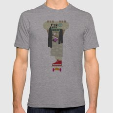 weirdo Mens Fitted Tee Athletic Grey SMALL