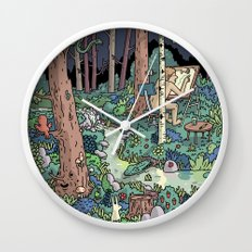 Artist in the Wild Wall Clock