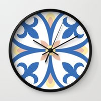 Floor Tile 8 Wall Clock