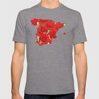 Spain Mens Fitted Tee Tri-Grey SMALL