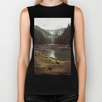 Foggy Forest Creek Biker Tank