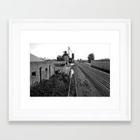 Framed Art Print featuring Railway landscape by Vorona Photography