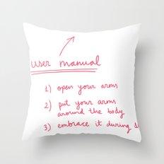 User manual Throw Pillow
