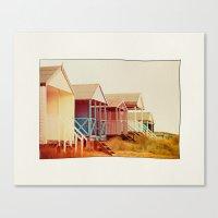 Painted Beach Huts. Canvas Print