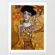 Art Print featuring Klimt by Antonio Lorente