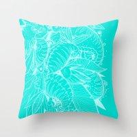 Feathered Nautilus Throw Pillow