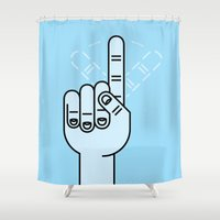 Finger Wag Shower Curtain