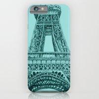 iPhone & iPod Case featuring Paris in Teal by Alyssa Bermudez