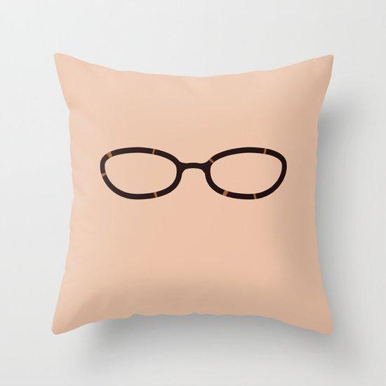 Liz Lemon Glasses Throw Pillow