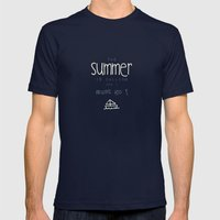 SUMMER IS CALLING Mens Fitted Tee Navy SMALL