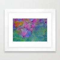 Dew Drop Lily Pad Framed Art Print