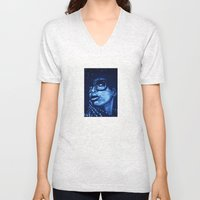 badu?!-blue Unisex V-Neck
