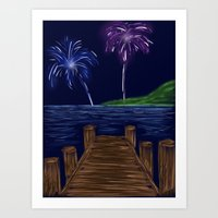 Just Watch the Fireworks Art Print