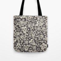 Sugar Skulls - Black & W… Tote Bag