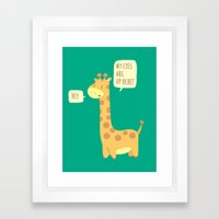 Giraffe Problems! Framed Art Print